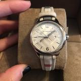 Burberry Accessories | Burberry Womens Heritage Watch | Color: Cream | Size: Os