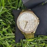 Coach Accessories | Coach Astor Women'S Gold And Stainless Steel Watch | Color: Gold/Silver | Size: Os