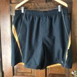 Nike Swim | Nike Black Wgolden Yellow Trim Swim Trunks Xxl | Color: Black/Gold | Size: Xxl