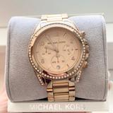 Michael Kors Accessories   Michael Kors Chronograph Bracelet Watch   Color: Gold/Pink   Size: Os