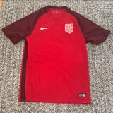 Nike Shirts & Tops | Nike Us Soccer Jersey | Color: Red | Size: Boys 1214