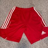 Adidas Bottoms | Kids Soccer Shorts | Color: Red/White | Size: Youth Large
