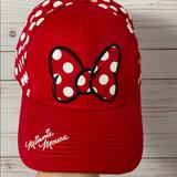 Disney Accessories | Disney Womens Minnie Mouse Polka Dot Hat | Color: Red/White | Size: Os
