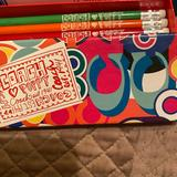 Coach Office | Coach Pencil Case & Pencils | Color: Orange/Pink | Size: Os