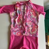 Columbia Swim   Columbia Sportswear Toddler Swimsuit   Color: Pink/Yellow   Size: 2tg