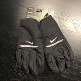 Nike Accessories | Nike Aeroshield Mens Gloves | Color: Black/Silver | Size: Large