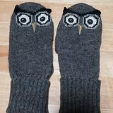 Kate Spade Accessories | Kate Spade Wise Owl Mittens | Color: Gray | Size: Os