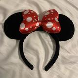 Disney Accessories | Minnie Mouse Velvet Ears | Color: Black | Size: Os