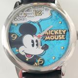Disney Accessories | Disney Mickey Mouse Watch | Color: Black/Blue | Size: Os