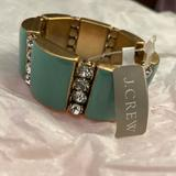 J. Crew Jewelry | Nwt Jcrew Seagreen Lucite Crystal Stretch Bracelet | Color: Gold/Green | Size: Os