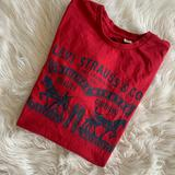 Levi's Shirts   Levis Mens T-Shirt Size Xl Red Spell Out Logo   Color: Red   Size: Xl