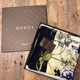 Gucci Accessories | Gucci Chrissy Flora Silk Scarf | Color: Black/Yellow | Size: 35 Inch Square