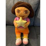 Disney Toys | Dora The Explorer Plush Toy Stuffed Soft Doll Huge | Color: Orange/Pink | Size: Osg