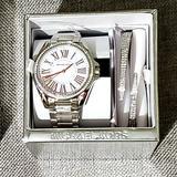 Michael Kors Accessories | New Michael Kohrs Watch And Bracelet Set | Color: Pink/Silver | Size: 39mm