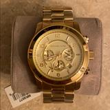 Michael Kors Accessories | Brand New Michael Kors Mens Oversized Runway Watch | Color: Gold | Size: Os