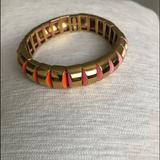 Kate Spade Jewelry | Kate Spade Sliced Scallops Metal Stretch Bracelet | Color: Gold/Orange | Size: Os