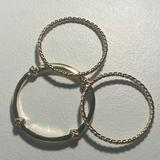 Lilly Pulitzer Jewelry | Lilly Pulitzer Gold-Tone Bangle Set Of Three | Color: Gold/Silver | Size: Os