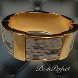 J. Crew Jewelry   J. Crew Hinged Cuff Bracelet Goldtonesnakeskin   Color: Black/Gold/Gray/White   Size: Os