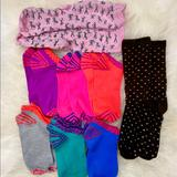 J. Crew Accessories | Nike J.Crew Colorful Socks Bundle | Color: Pink/Red | Size: Os