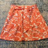 J. Crew Skirts | Floral Print Skirt | Color: Orange/White | Size: 2