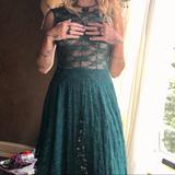 Free People Dresses | All Sheer Free People Pine Green Lace Midi Dress | Color: Green | Size: S