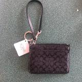 Coach Accessories | Coach Skinny Cloth Credit Card Case Wallet Nwt | Color: Black | Size: Os