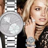 Michael Kors Accessories | Michael Kors Women'S Watch Courtney Silver Crystal | Color: Silver/White | Size: Os