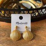 Madewell Jewelry | Madewell Vintage Gold Shell Drop Earrings | Color: Gold | Size: Os