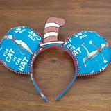 Disney Accessories   Dr. Seuss Cat In The Hat Minnie Mouse Ears   Color: Blue/Red   Size: Os