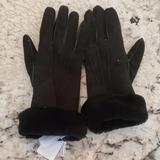 J. Crew Accessories   J Crew Suede Gloves With Fur Lining D75361   Color: Black   Size: Os