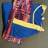 Lularoe Pants & Jumpsuits   Lularoe Set.......Irma And Leggings To Match   Color: Blue/Yellow   Size: One Size And Small