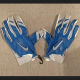 Nike Accessories | Nfl Detroit Lions Nike Vaporknit Football Gloves | Color: Blue/Silver | Size: 3xl