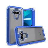 3 in 1 High Quality Transparent Snap On Hybrid Case, Blue/Clear For Harmony 4