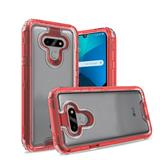 3 in 1 High Quality Transparent Snap On Hybrid Case, Red/Clear For Harmony 4