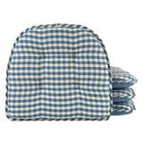 August Grove® Non-Slip Indoor Chair Cushion Polyester/Polyester blend in Blue, Size 2.0 H x 16.0 W in | Wayfair A39C00C64732469FBDFD97DD533E3C11