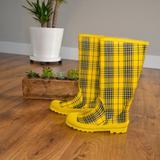 J. Crew Shoes | J.Crew Yellow & Blue Rain Boots | Color: Blue/Yellow | Size: 7