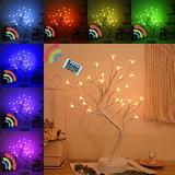 Night Light Color Changing Flower Tree Cherry Blossom lamp with Remote Control with Timer Christmas Birthday Gift for Girl Kids Women for Holiday and Party Home Room Decoration(Cherry)………