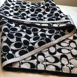 Coach Accessories | Black And Silver Glitter Coach Scarf - Reversible! | Color: Black/Silver | Size: Os