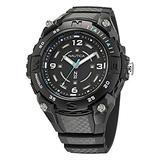Nautica Men's Quartz Resin Strap, Black, 20 Casual Watch (Model: NAPCNF001)