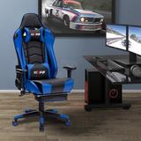 K-Like Ergonomic Gaming Chair Upholstery, Upholstered in Blue, Size Big/Tall | Wayfair WB-8395-Blue
