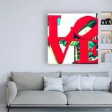 Ebern Designs LOVE Sculpture by Philippe Hugonnard - Wrapped Canvas Textual Art Print Canvas & Fabric in Brown/Red/White   Wayfair