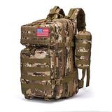 MARJAQE 43L Large 3 Day Molle Assault Pack Military Tactical Army Backpack Military Backpack for Men Bug Out Bag Rucksack Daypack Rucksack (Cp Camo)