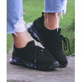 ROSY Women's Sneakers Black - Black Perforated Sneaker - Women