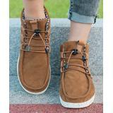 PAOTMBU Women's Sneakers BROWN - Brown Bungee Lace-Up Sneaker - Women