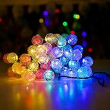 Solar String Lights Outdoor,Solar Powered String Lights with 50 LED 31FT,IP65 Waterproof Outdoor String Lights 8 Models,Solar Globe Outdoor String Lights,LED Hanging String (Multi-Colored)