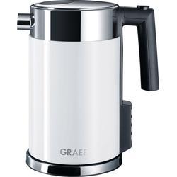 Graef Wasserkocher WK 701, 1,5 l, 2200 W, mit Temperatureinstellung, Edelstahl, weiß SOFORT LIEFERBARE Haushaltsgeräte