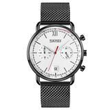 MASTOPMen's Analog Quartz Watch Business Stainless Steel Band Ultra -Thin Minimalist Watches Unique Calendar Date Window Wrist Watch 3ATM Water Resistant Luminous Watches