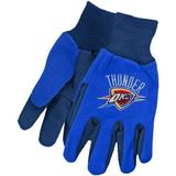 """McArthur Oklahoma City Thunder Two-Tone Utility Gloves - Royal Blue-Navy Blue"""