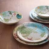 Bayou Breeze Nita Sea Turtle 16 Piece Melamine Dinnerware Set, Service for 4 Melamine in Blue/Brown/Green | Wayfair