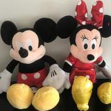 Disney Toys | Disneys: Mickey & Minnie Plush Toys - Like New | Color: Black/Red | Size: One Size Kids